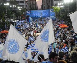 Flagi, race i szaszłyki. Na gorąco z demonstracji w Atenach