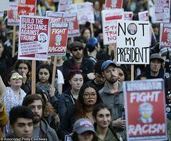 Protesty uliczne przeciwko wygranej Trumpa