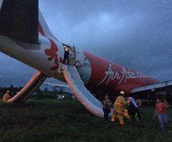 Awaryjne lądowanie malezyjskiego samolotu. Wypadł z pasa podczas lądowania