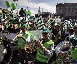 Protest we Włoszech. Chcą więcej zarabiać