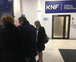 Posłowie PO i .N w siedzibie KNF z interwencją poselską. Radca odmówił wejścia