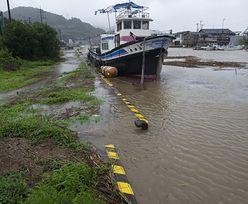 Tajfun w Japonii wywołał chaos komunikacyjny