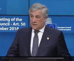 Szef PE pomalował polik pomadką. Przeciwko przemocy wobec kobiet