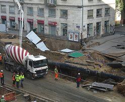 Osunięcie ziemi w centrum Warszawy to wina metra