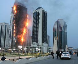 Pożar wieżowca w Groznym został ugaszony