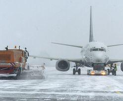 Atak zimy na Śląsku. Opóźnione samoloty z Pyrzowic