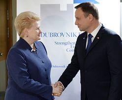 Spotkanie prezydenta Polski z prezydent Litwy