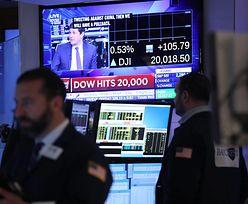 Dow Jones pobił rekord. Pierwszy raz w historii złamany próg 20 tys. punktów