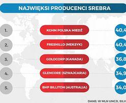 Statistica. Polskie bogactwa naturalne. Sporo gazu i węgla, ale najwięcej mamy srebra