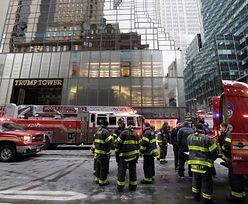Pożar Trump Tower w Nowym Jorku. To tu mieścił się główny sztab wyborczy obecnego prezydenta
