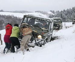 Zima w Bieszczadach. Spadło 30 centrymentrów śniegu
