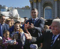 Wałęsa na Ukrainie apeluje o jedność