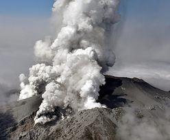 Erupcja wulkanu w Japonii. Turyści uwięzieni w górach