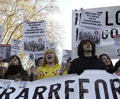 Studenci wyszli na ulice hiszpańskich miast