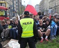 Narodowcy blokują odbudowę tęczy na pl. Zbawiciela