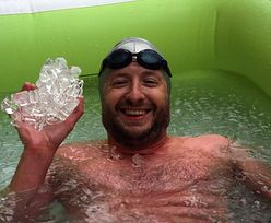Rafał Ziobro w Księdze Rekordów Guinnessa. Przepłynął Cieśninę Beringa