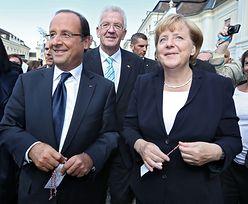 Merkel i Hollande obiecują razem walczyć z kryzysem