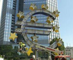 Symbol euro przed siedzibą EBC rozebrany. Przypadek?
