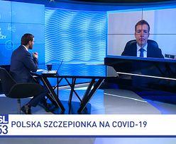"""Polska szczepionka na COVID-19. """"Skuteczność będzie znana za miesiąc-dwa"""""""