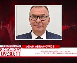Koronawirus w Polsce. Adam Abramowicz obawia się przestojów w produkcji żywności. Dopinguje rząd do działania