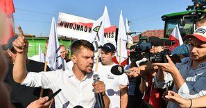 Protest rolników. Kołodziejczak dla money.pl: W sobotę blokada Helu