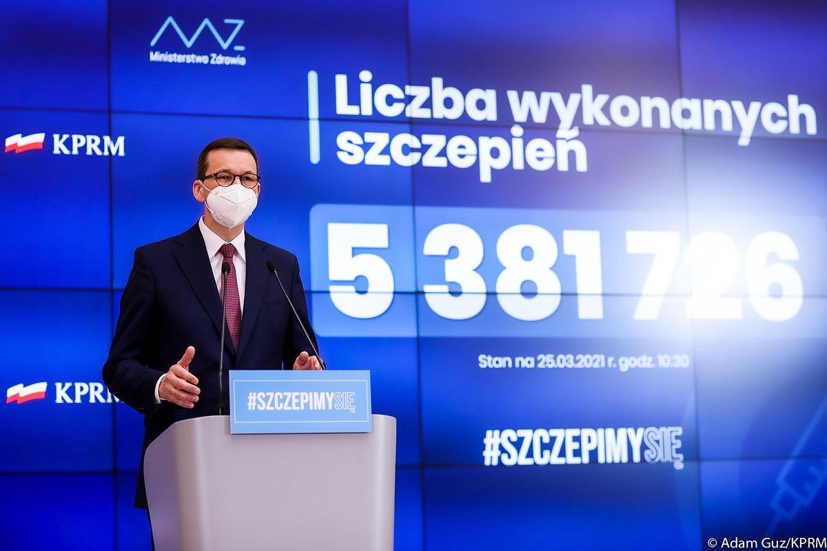 Konferencja premiera. 10 mln szczepień miesięcznie. Nowe punkty - Money.pl