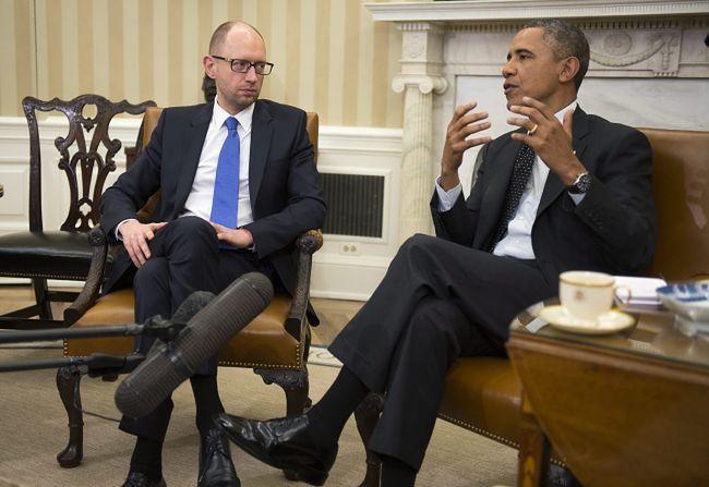 Rozmowa Obamy z Jaceniukiem. Stany zwiększą sankcje wobec Rosji