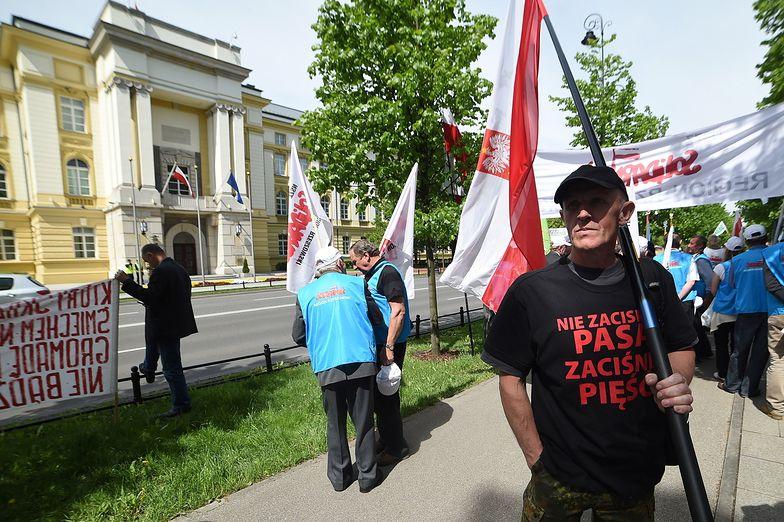 12.05.2015, Warszawa. Protest rolników.