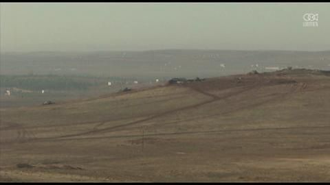 Kłęby dymu nad przygranicznym miastem; trwa walka o kontrolę nad Kobane