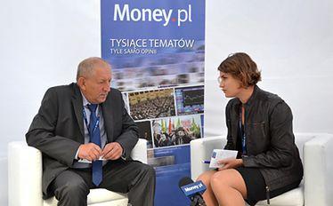 Prezes Fakro Ryszard Florek z dziennikarką Money.pl