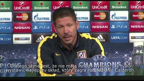 Konferencja prasowa Simeone przed meczem z Juventusem Turyn