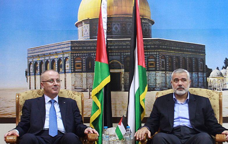 Premier Rami Hamdallah i lider Hamasu - Ismael Haneiya.