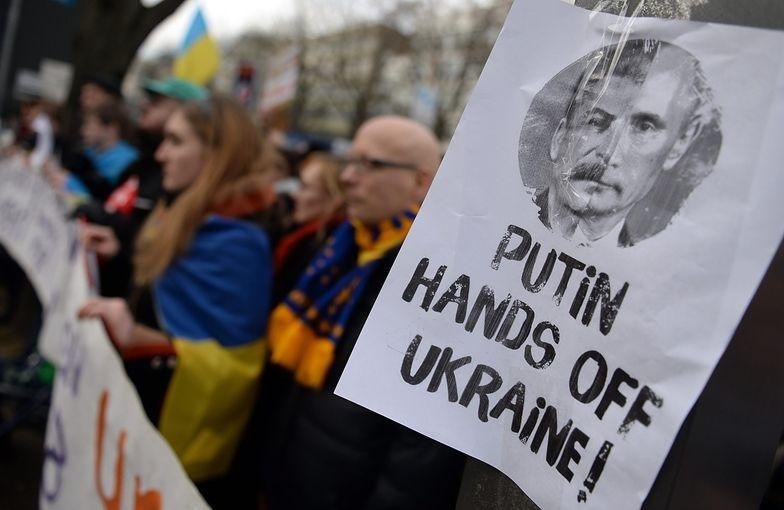 Sankcje dla Rosji. Ukraińcy demonstrują w USA