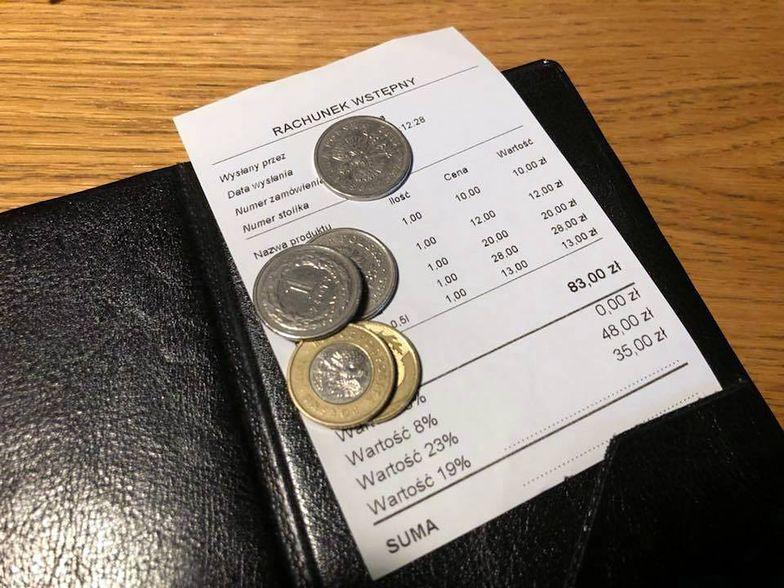 Rachunek wstępny nie może służyć do rozliczania należności w lokalu gastronomicznym.
