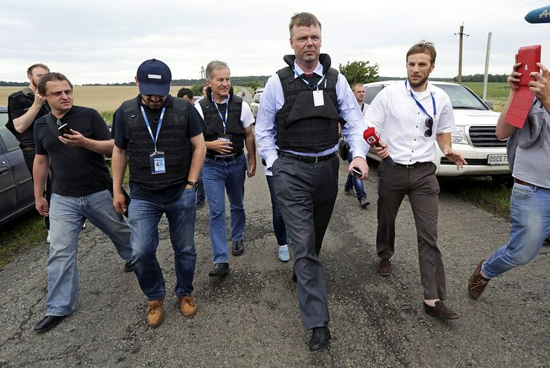 Samolot zestrzelony nad Ukrainą. Eksperci OBWE byli na miejscu katastrofy