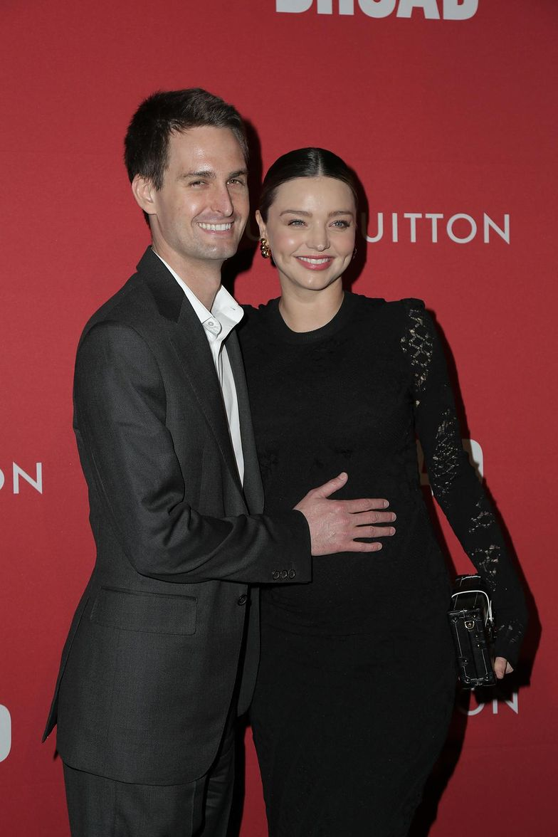 8 stycznia 2018 r. Evan Spiegel z żoną Mirandą Kerr