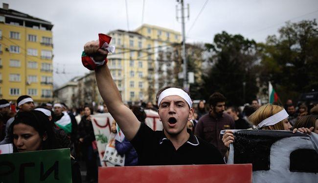 Strajki w Bułgarii. Antyrządowa demonstracja studentów w Sofii