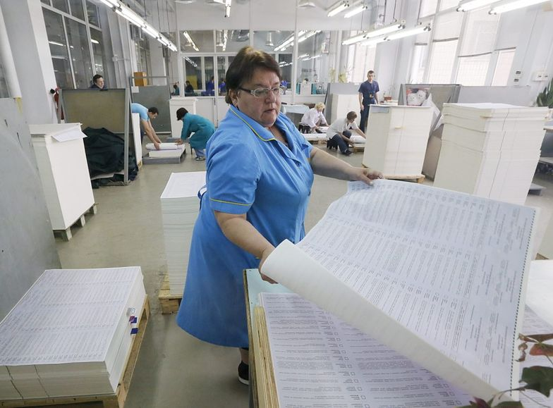 Drukowanie kart na wybory na Ukrainie