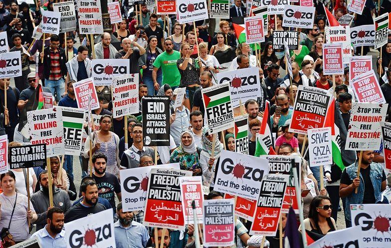 Propalestyńskie demonstracje w Paryżu i Londynie