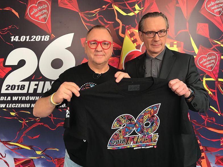 Jurek Owsiak i prezes mBanku Cezary Stypułkowski