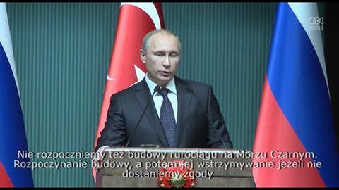 Prezydent Putin mówi o wstrzymaniu prac przy Rurociągu Południowym