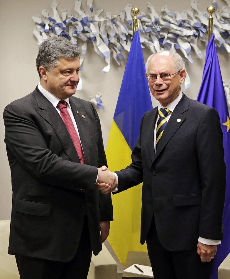 Petro Poroszenko i Herman Van Rompuy