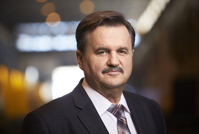 na zdjęciu: Ryszard Matyka, prezes Vistal Gdynia