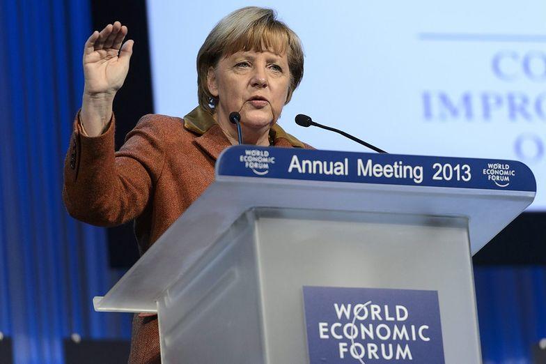 Angela Merkel na Światowym Forum Gospodarczym