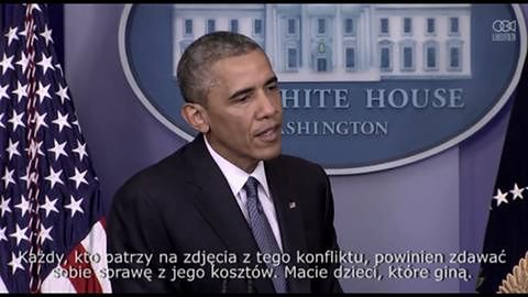 Prezydent USA, Barack Obama, o konfliktach w Gazie i na Ukrainie
