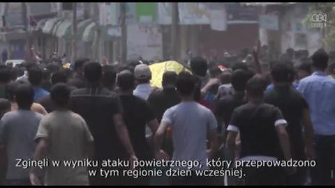 Pogrzeb dziewięciu ofiar w Khan Younis