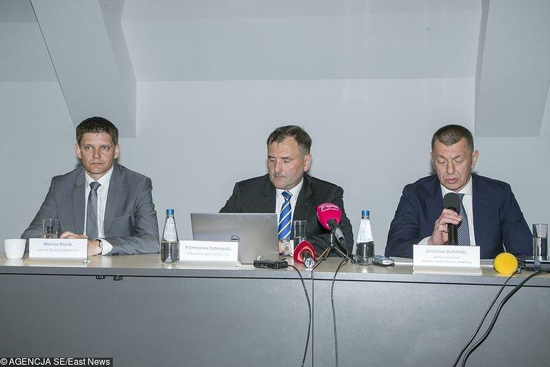 Zarząd GetBack z prezesem Przemysławem Dąbrowskim