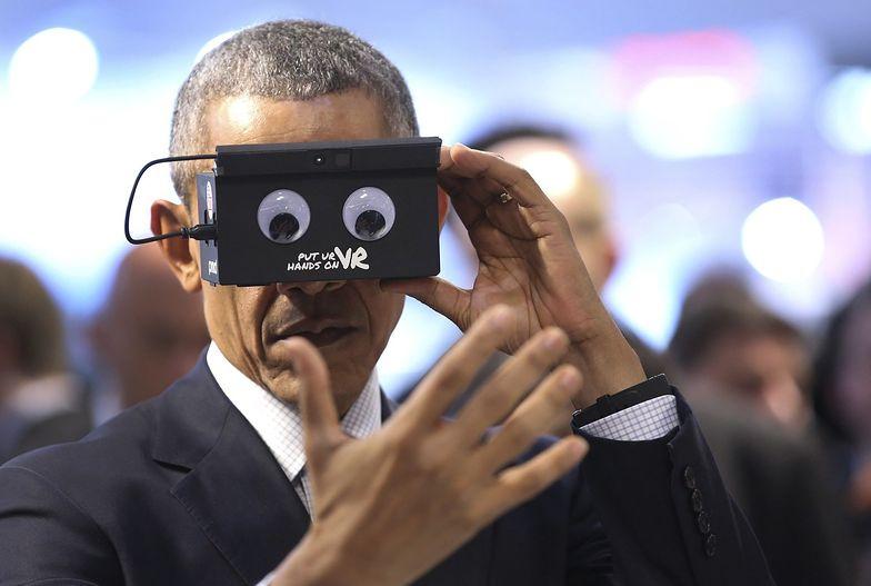 Barack Obama podczas Hannover Messe