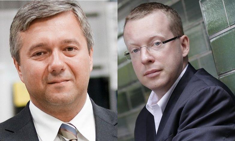 od lewej: Janusz Płocica (obecny prezes PZ Cormay) i Tomasz Tuora (były prezes)