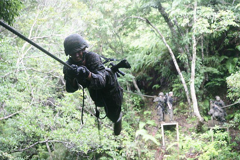 Ćwiczenia amerykańskich żołnierzy w bazie Okinawa